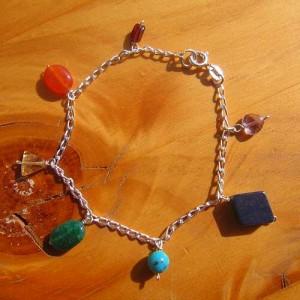 chakra bracelet silver