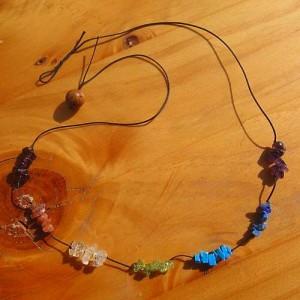 chakra necklace tumble stones