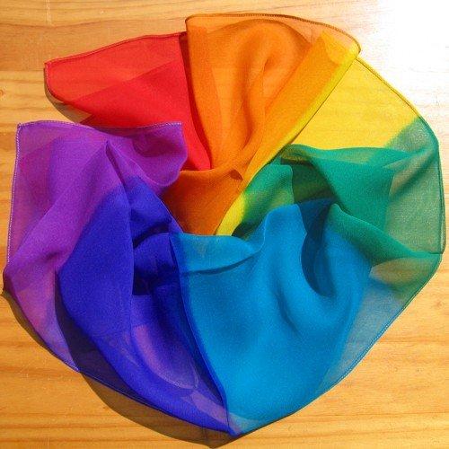 chakra silk scarf seven colours