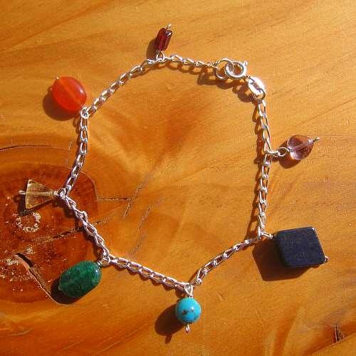 chakra bracelet jewellery crystals silver