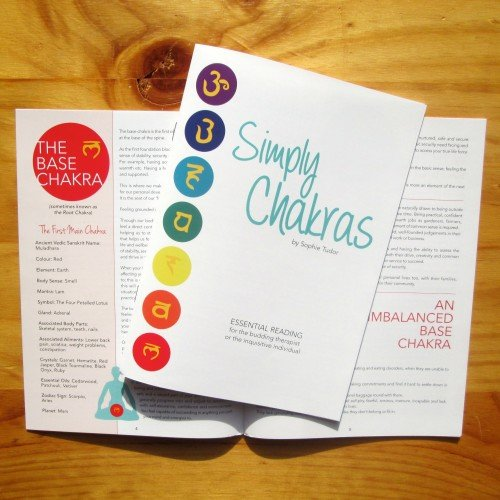 chakra information booklet simply chakras 10 pack