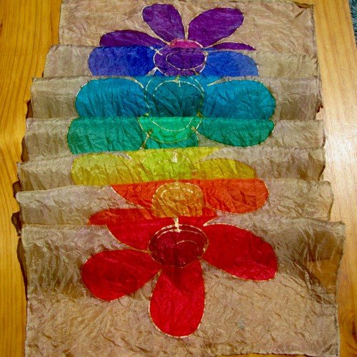 chakra silk flowers