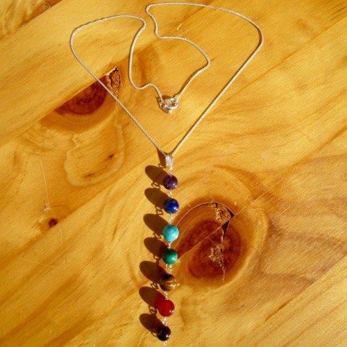 chakra necklace round bead pendant