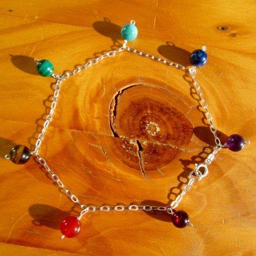 chakra ankle bracelet chain