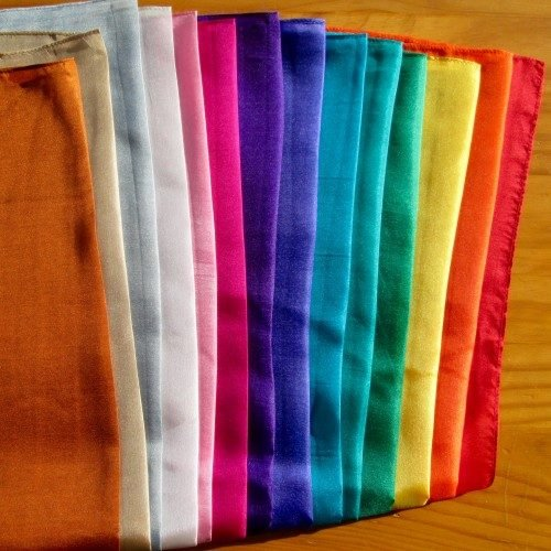 colour therapy silk square set wholesale pack
