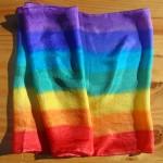 chakra silk scarves