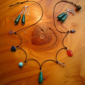 chakra necklace carved stones