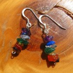 chakra earrings rainbow hooks