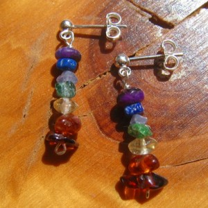 chakra earrings tumble stone a studs