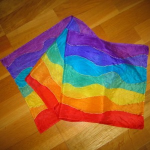 chakra silk scarf waves large