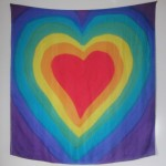 chakra silk colour therapy scarf big hearts hand painted