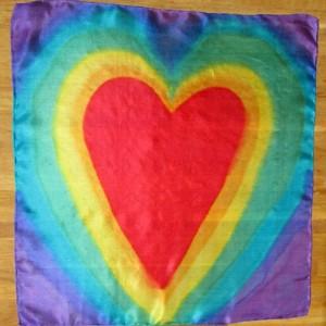 chakra silk scarf hearts medium
