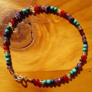 chakra ankle chain bracelet
