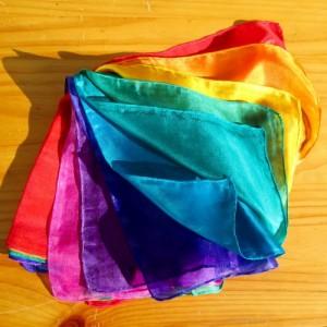 colour therapy silks chakra 9 set