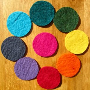 colour therapy set pure wool